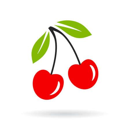 ripe: Cherry vector icon