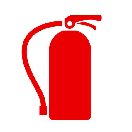 conflagration: Fire extinguisher vector icon Illustration