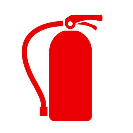 explosion hazard: Fire extinguisher vector icon Illustration