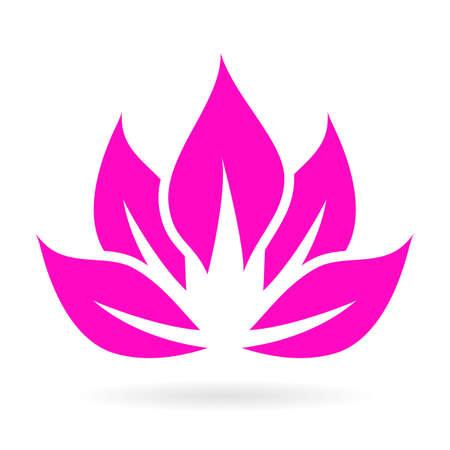 inner peace: Lotus vector icon