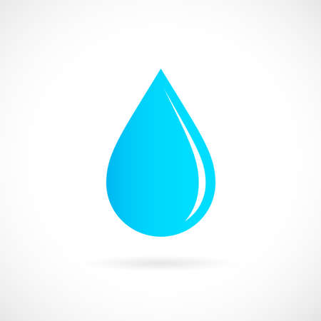 Blue rain drop icon