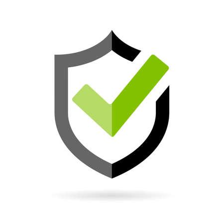 Tick-Zeichen genehmigt Symbol Standard-Bild - 64138548