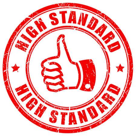 standard: High standard rubber stamp