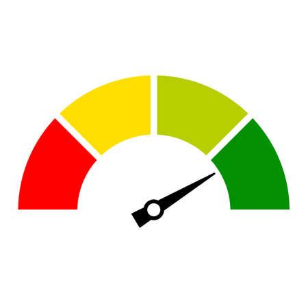 スピード メーターのアイコン  イラスト・ベクター素材