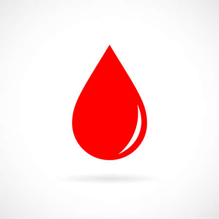 dewdrops: Red blood drop icon Illustration
