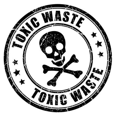 residuos toxicos: Sello de goma de residuos tóxicos