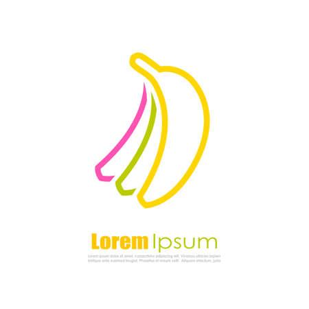 ripe: Banana vector logo Illustration