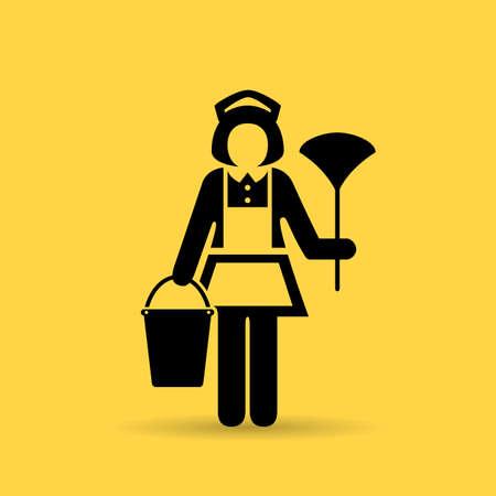 Icona della donna della domestica