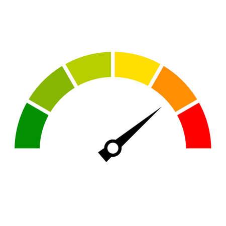 Speed metering icon Vector Illustratie