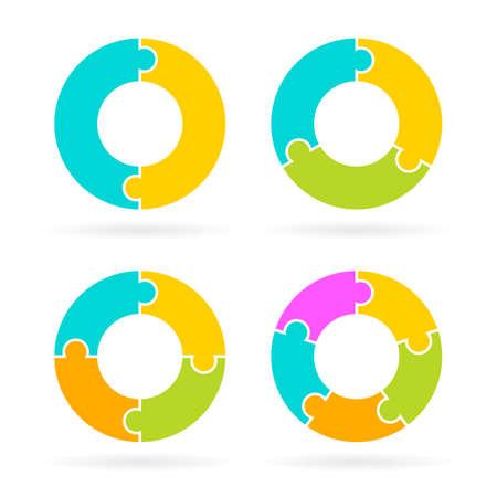 Cycle diagram templates set