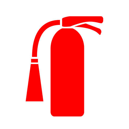 danger carbon dioxide  co2  labels: Fire extinguisher icon