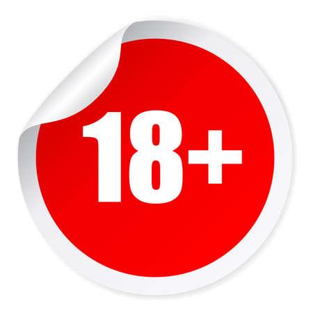 Under 18 sticker Иллюстрация