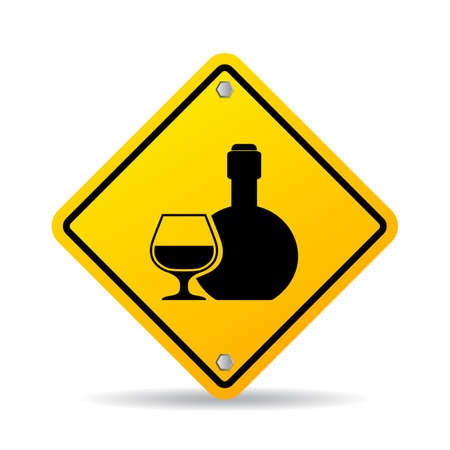 Alcohol vector sign