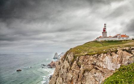 Cabo da Roca stormy dramatic landscape Editorial
