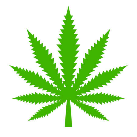 Marijuana leaf vector icon
