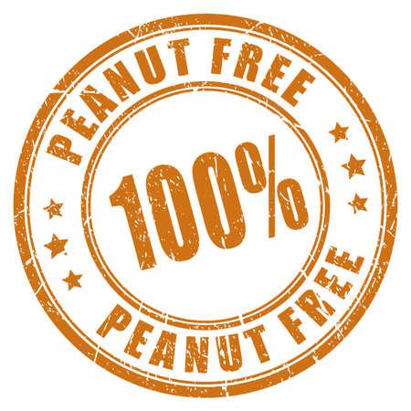 allergenic: Peanut free rubber stamp Illustration