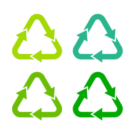 recycling: Recycling green arrows symbol