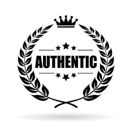 principled: Authentic laurel symbol Illustration