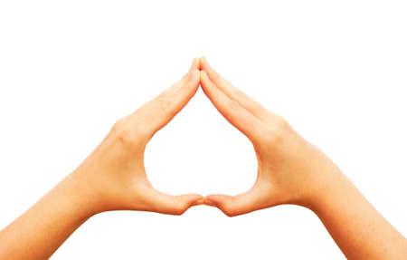 forme: Mains faisant forme de coeur Banque d'images