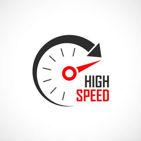 logotipo de alta velocidad