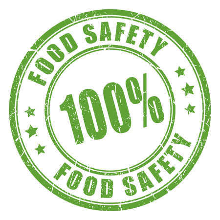 fresh food: Food safety rubber stamp Illustration