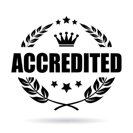 certified: Accredited award icon Illustration