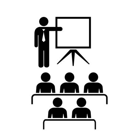 conference audience: Teacher and audience icon