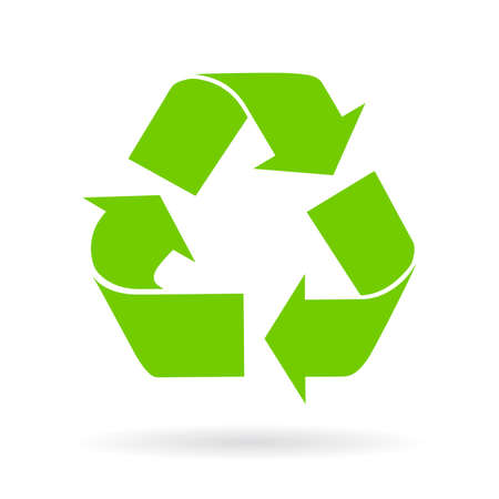 hand sign: Recycle cycle symbol Illustration