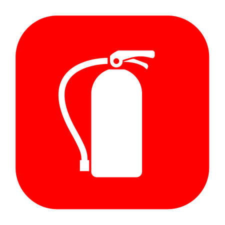 conflagration: Extinguisher fire sign Illustration