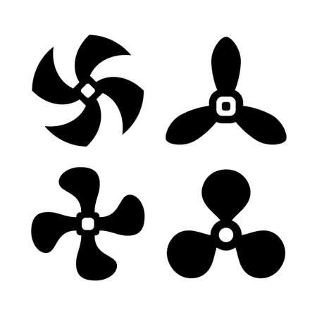 tornillos: icono de la hélice de aire