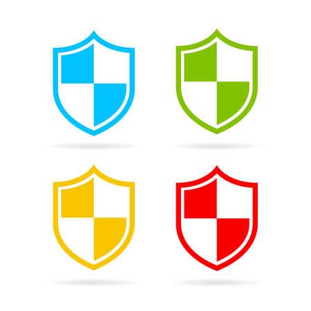 Héraldique icône de bouclier