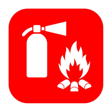 flammable: Extinguisher and fire safety sign