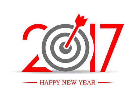 successful: 2017 successful new year greeting symbol Illustration