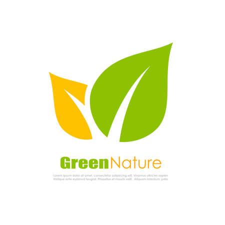 shoot: Green natural leaf logo Illustration