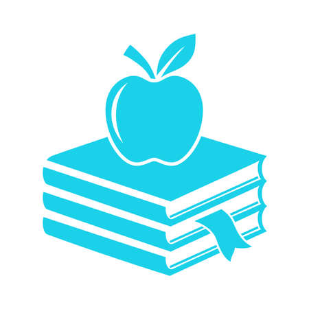 Books and apple icon