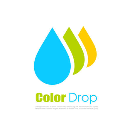 water spray: Color drop logo Illustration