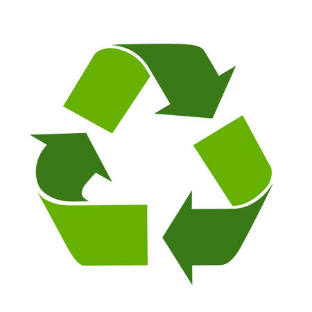 waste products: Recycle eco symbol Illustration
