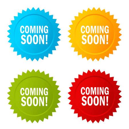 grand sale sticker: Coming soon star sticker icon