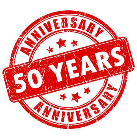 50 years anniversary: 50 years anniversary rubber stamp