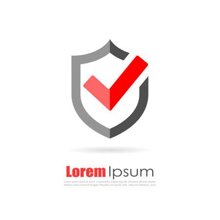 Seguro logotipo de tienda virtual en línea