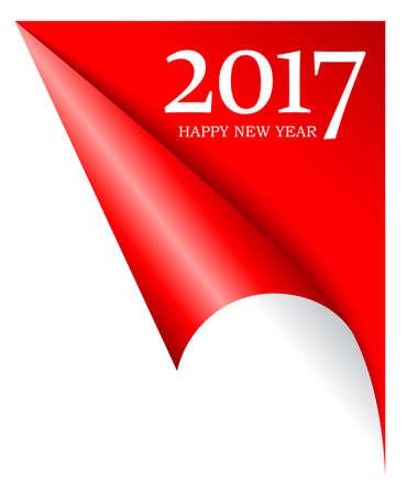 2017 kommende neue Jahr Seite Ecke Vektorgrafik