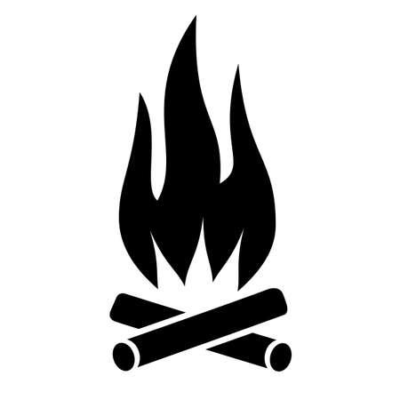 Fire vector icon Illustration