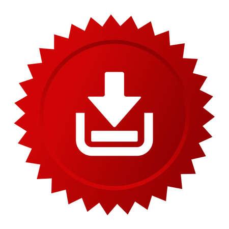 Download now red sticker