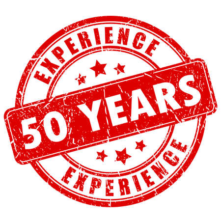 experienced: 50 year experience rubber stamp