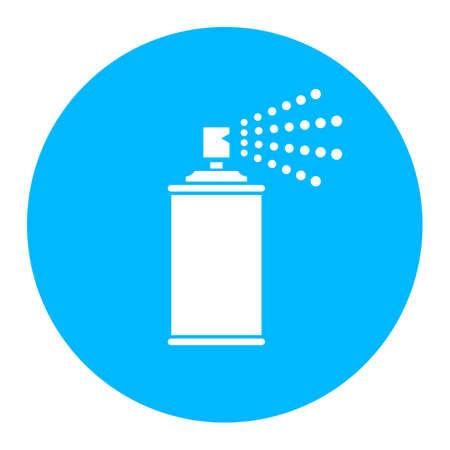 compressed air: Spray icon Illustration