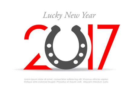 new idea: Lucky new year 2017, greeting card idea
