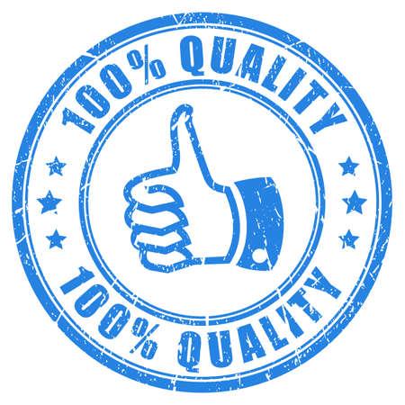 100 品質のゴム印  イラスト・ベクター素材