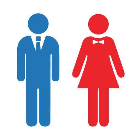 Man and woman icon Illustration