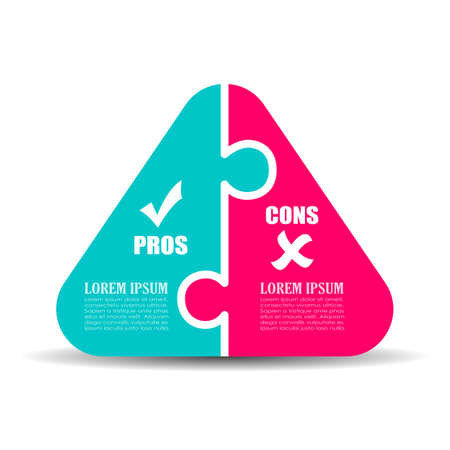 cons: Pros and cons puzzle diagram