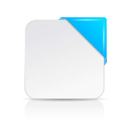 Blank info card with blue corner